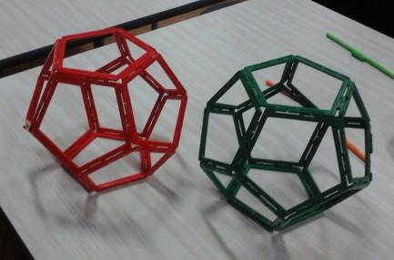 Y6 girl and Y6 boy dodecahedra