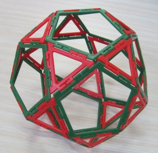 Icosidodecahedron 6 March Y6 girl