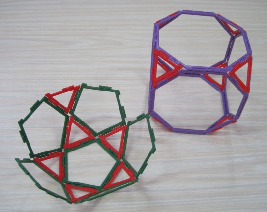 Truncated Cube and half Icosidodecahedron 13 March Y1 girl