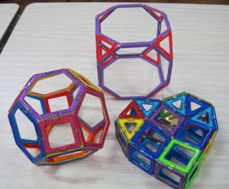 Truncated Cube and Truncated Octahedron and Heart 13 March Y1 boy
