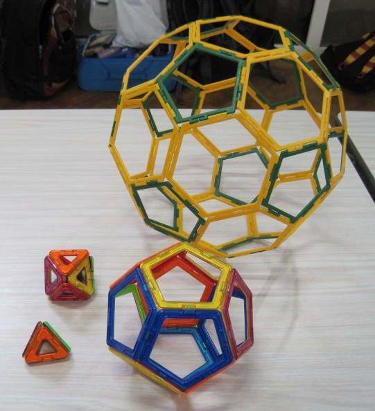 Truncated Icosahedron and Platonic Solids 13 March Y2 girl