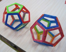 Two dodecahedrons 6 March Y1 boy and Y5 boy